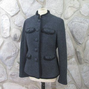 Boden Gray and Black Wool Jacket
